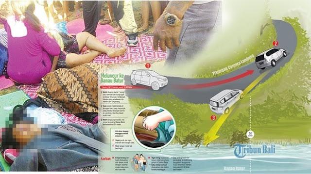 Merinding !! Misteri Tenggelamnya Mobil di Danau Batur, Korban Selamat Lihat Hal 'Ganjil' Sebelum Kejadian!!