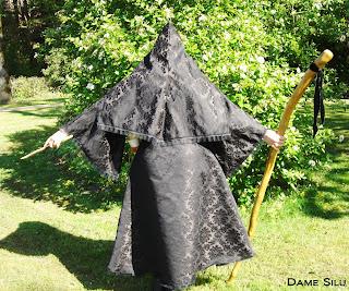 costume mage capuche noir