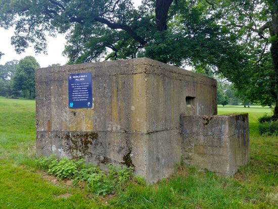 The pillbox on Potters Bar golf course, grid reference TL 24863 02396 Image by the North Mymms History Project released under Creative Commons