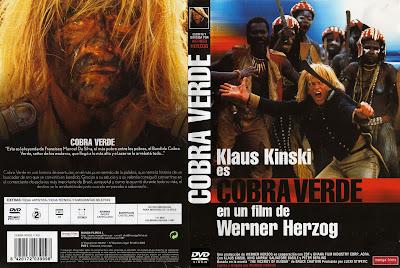 Cover, dvd, caratula:Cobra verde   1987