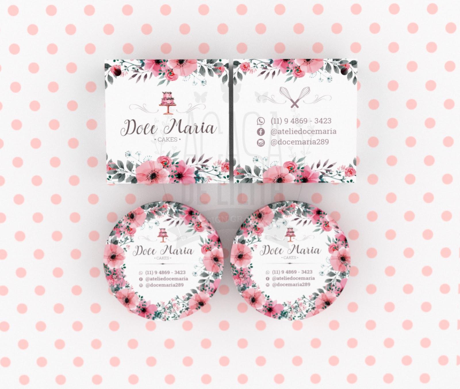 Criação de Tag, Adesivo e Capa de Facebook - Flores Cake Design / Confeitaria