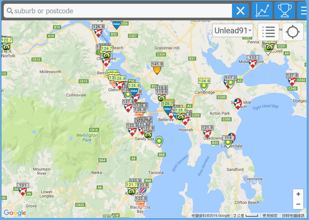 塔斯馬尼亞-油價-地圖-租車-自駕-推薦-Tasmania-Car-Rental-Australia