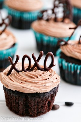 The Best Moist Chocolate Cupcakes with Prague Frosting