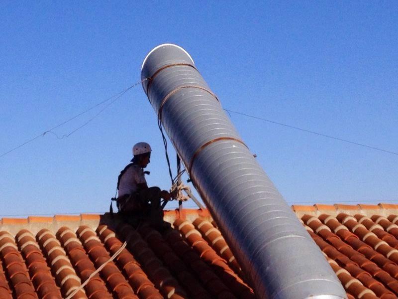 foto trabajos chimenea en tejado