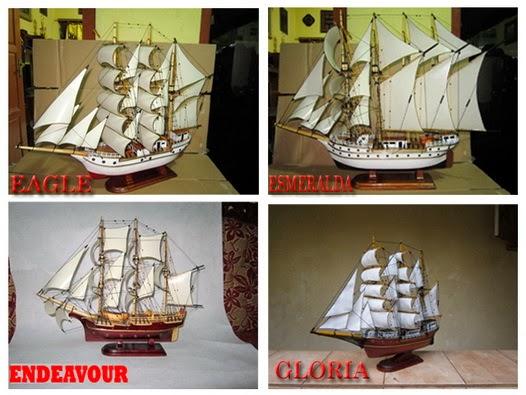 Miniatur kapal layar, miniatur kapal laut, miniatur kapal klasik, miniatur kapal eagle, miniatur kapal esmeralda, miniatur kapal endeavour, Miniatur kapal Gloria, Miniatur kapal kayu