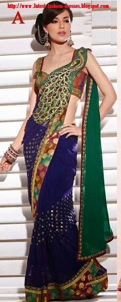 latest model saree