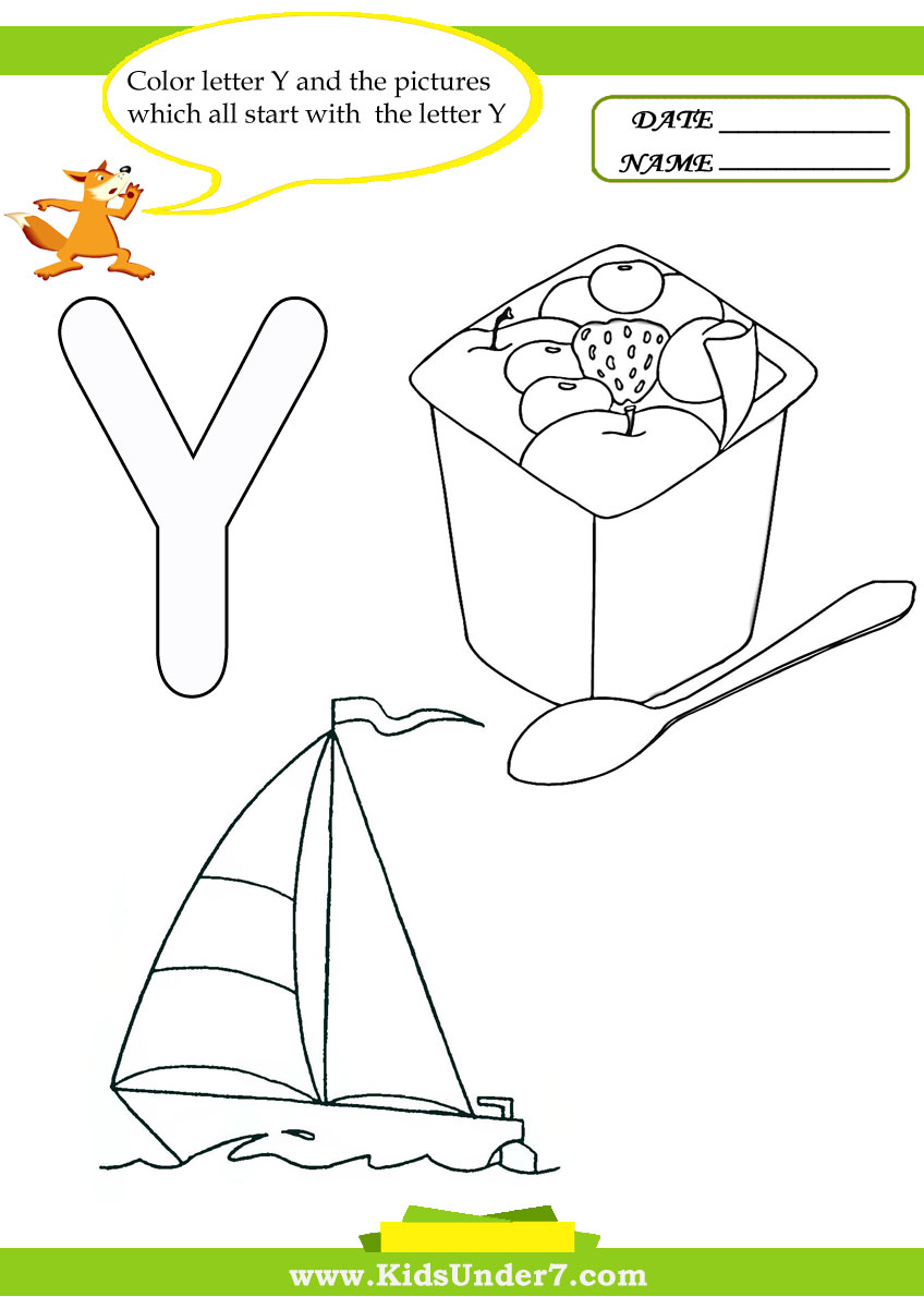 y coloring pages for preschoolers - photo #45