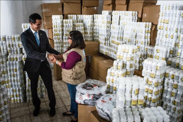 Sorpresa para Maduro : Juan Guaidó hace entrega de la primera parte de la Ayuda Humanitaria
