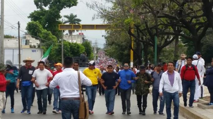 Marchan nuevamente en Chiapas contra el gasolinazo y reformas estructurales