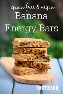 Healthy Vegan Banana Energy Bars Recipe