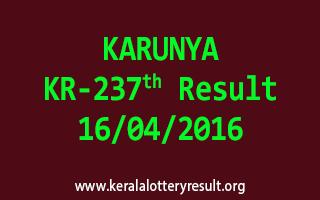 KARUNYA KR 237 Lottery Result 16-4-2016