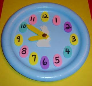 http://learningideasgradesk-8.blogspot.com/2012/02/easter-paper-plate-analog-clock.html