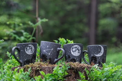 Personalized Moon Forest Constellation Mug by She Wolfka
