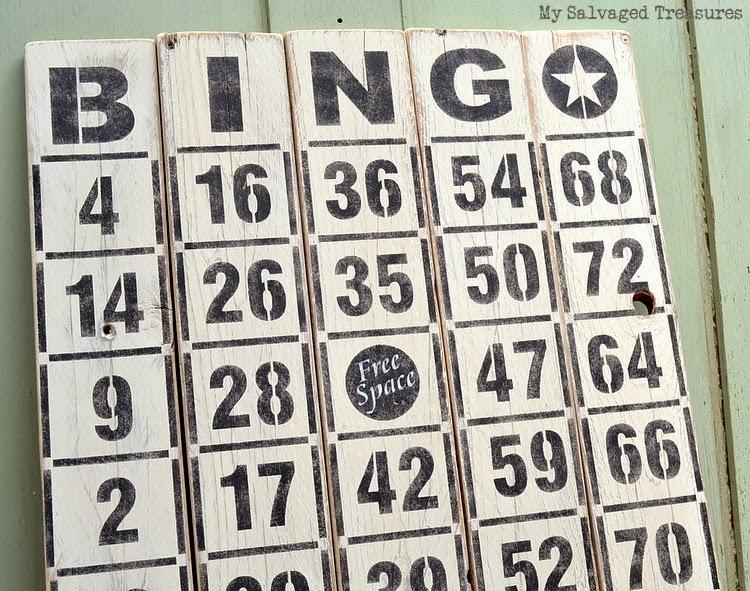 Stenciled Bingo Boards