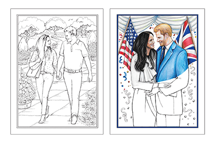 RBN - Royal Book News: Harry & Meghan Love Story Coloring Book and ...