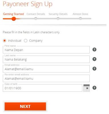 Cara Daftar Payoneer Mastercard Gratis