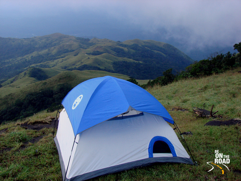 Camping in the Western Ghats of India during the monsoons