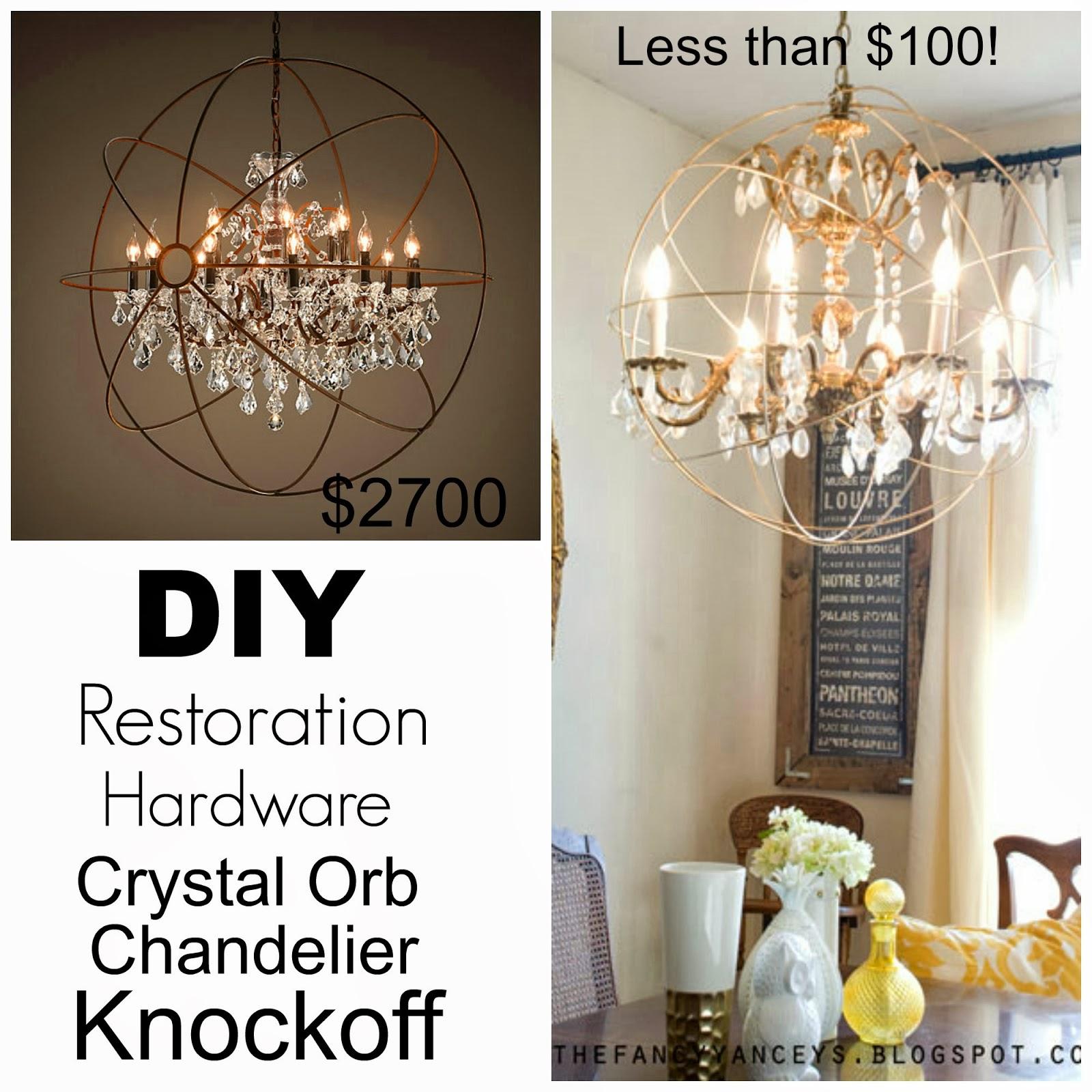 Restoration Hardware Lighting Orb: DIY Restoration Hardware Crystal Orb Chandelier Knockoff