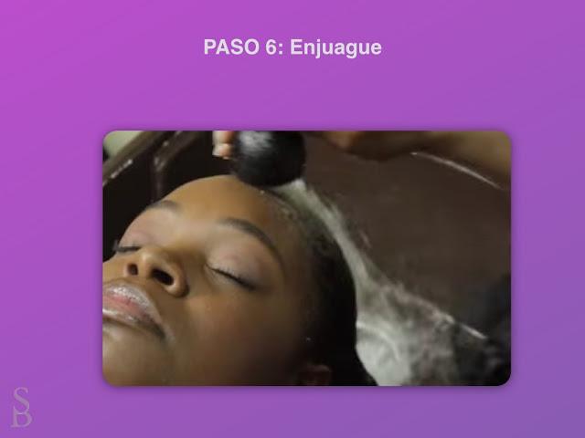 correcto enjuague del pelo