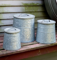 Farmhouse laundry room must have canisters