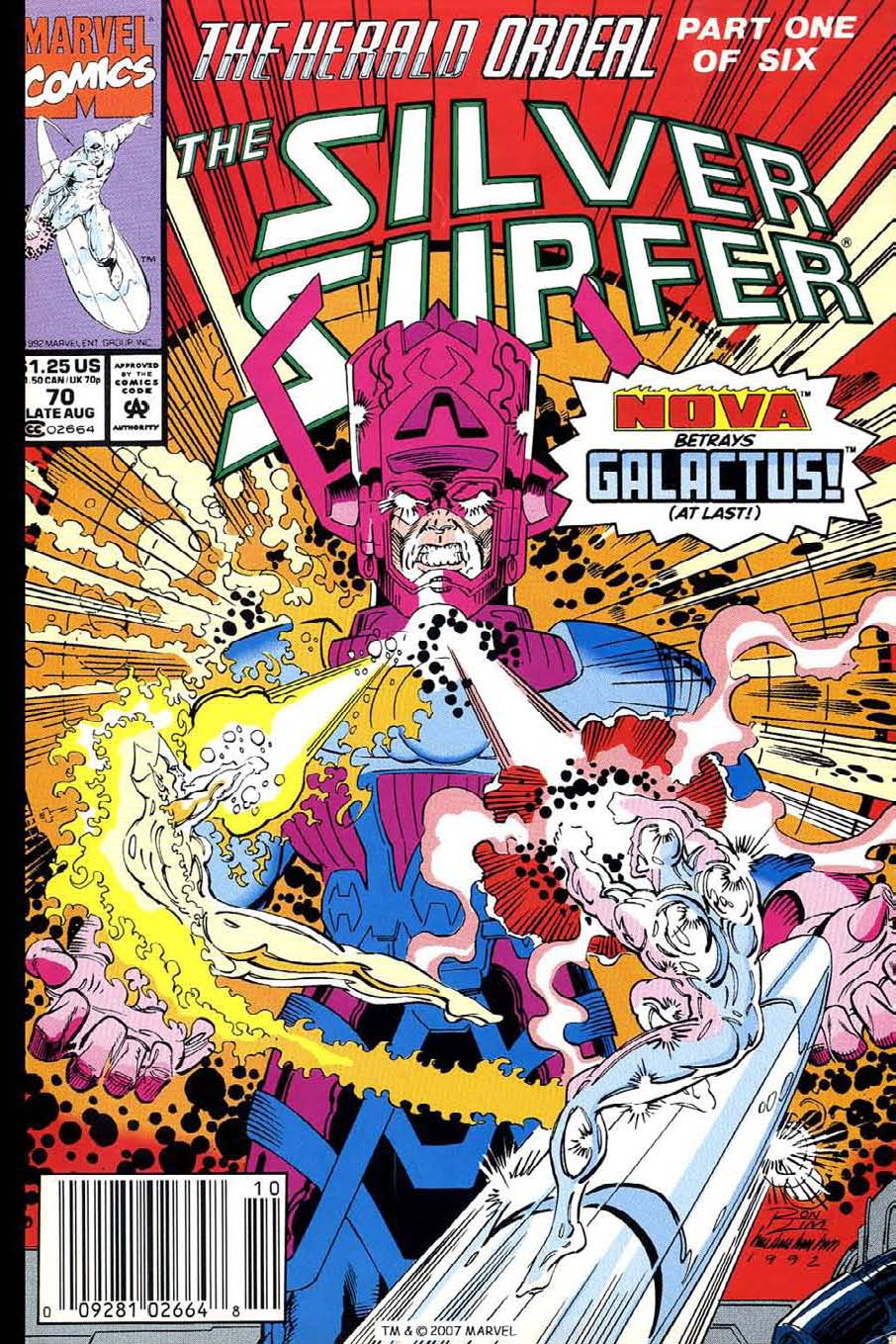 Read online Silver Surfer (1987) comic -  Issue #70 - 1