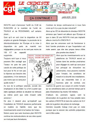 le chimiste janvier 2016 pour les salariés inovyn et solvay tavaux
