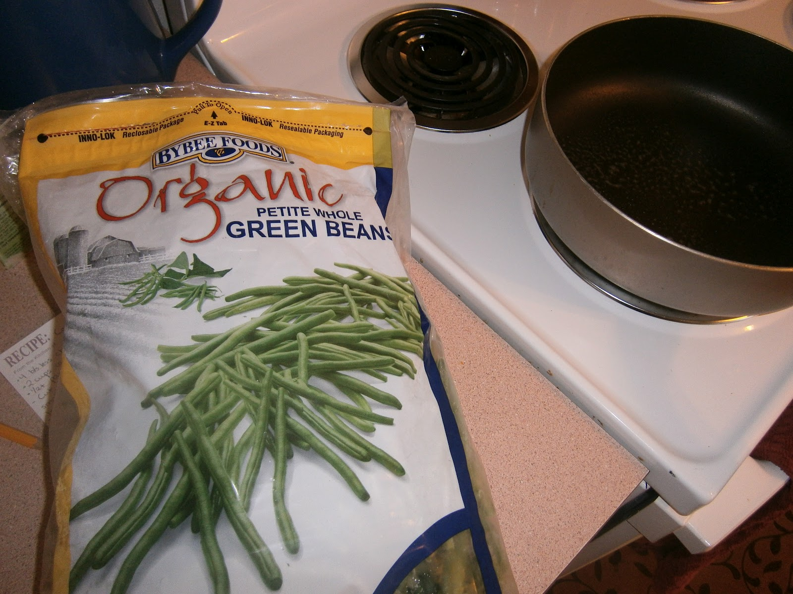 how to cook frozen green beans in a skillet