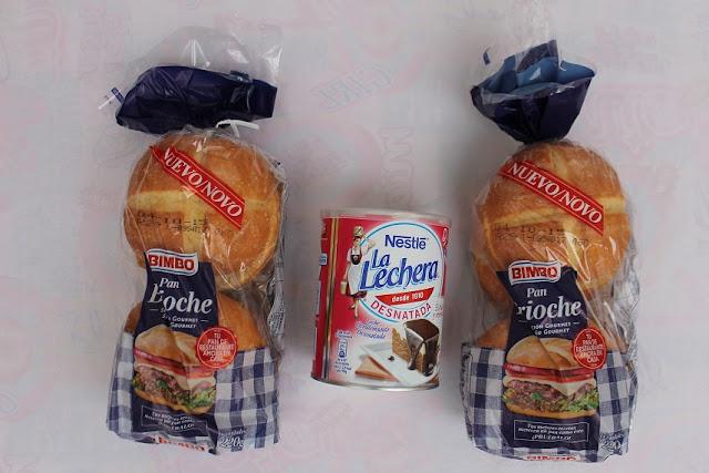 pan brioche y leche condensada