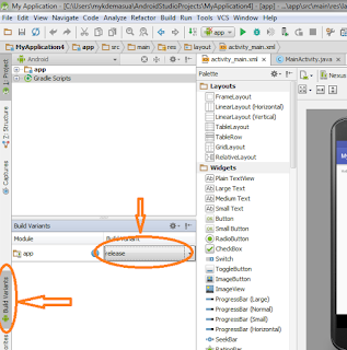 How to sign and build android app in Android studio