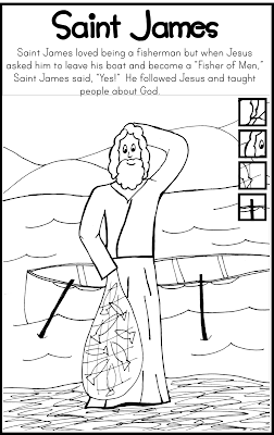 Saint James Coloring Page Catholic Kids