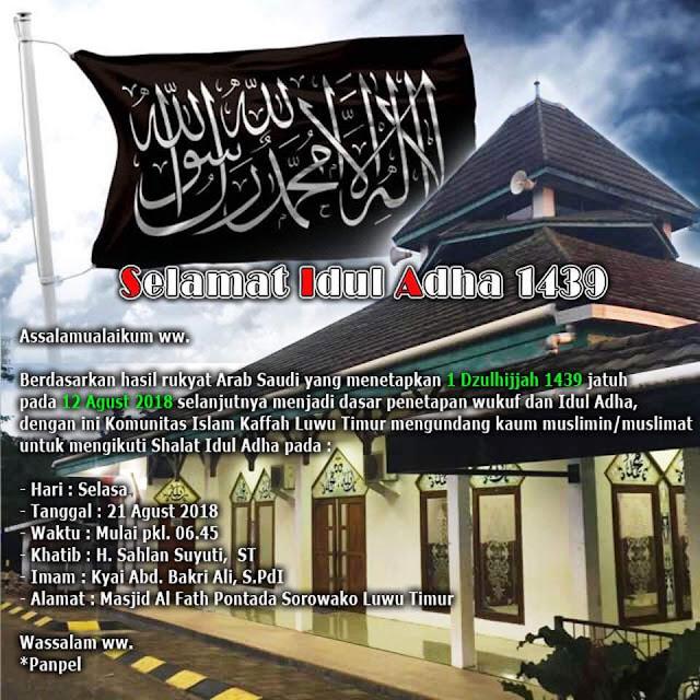 Waktu Pelaksanaan Shalat Idul Adha: Update Tempat Shalat Iedul Adha Hari Selasa Tgl 21 Agustus