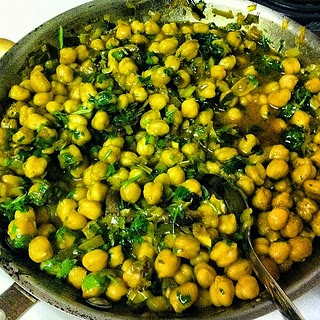 Chickpea Coriander Chicken with Greens