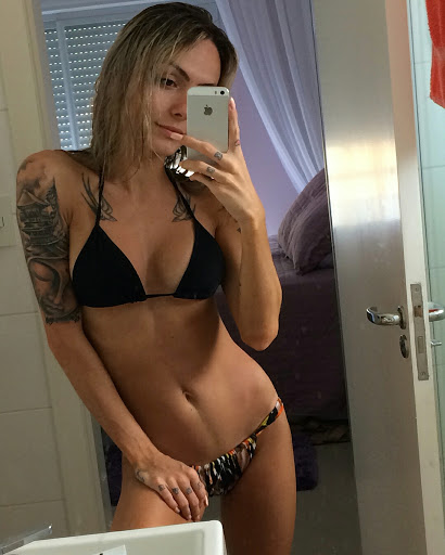 Victoria Carioni beautiful transgender bikini selfie Instagram photo