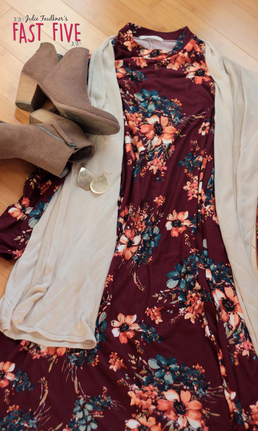 What She Wore Teacher Outfits Fall Florals