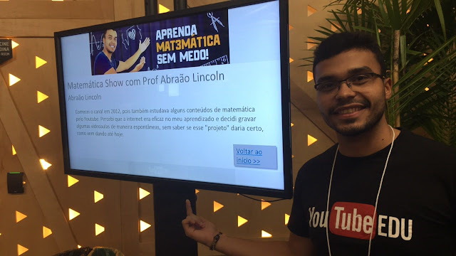 Professor Delmirense Abraão Lincoln,  participa do I Encontro Nacional do projeto Youtube EDU
