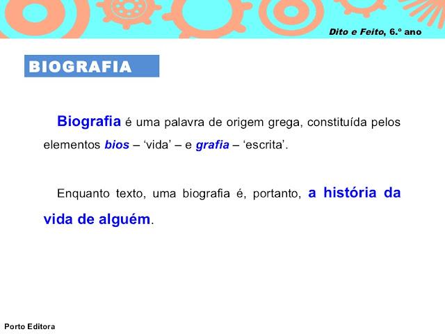 o que é BIOGRAFIA