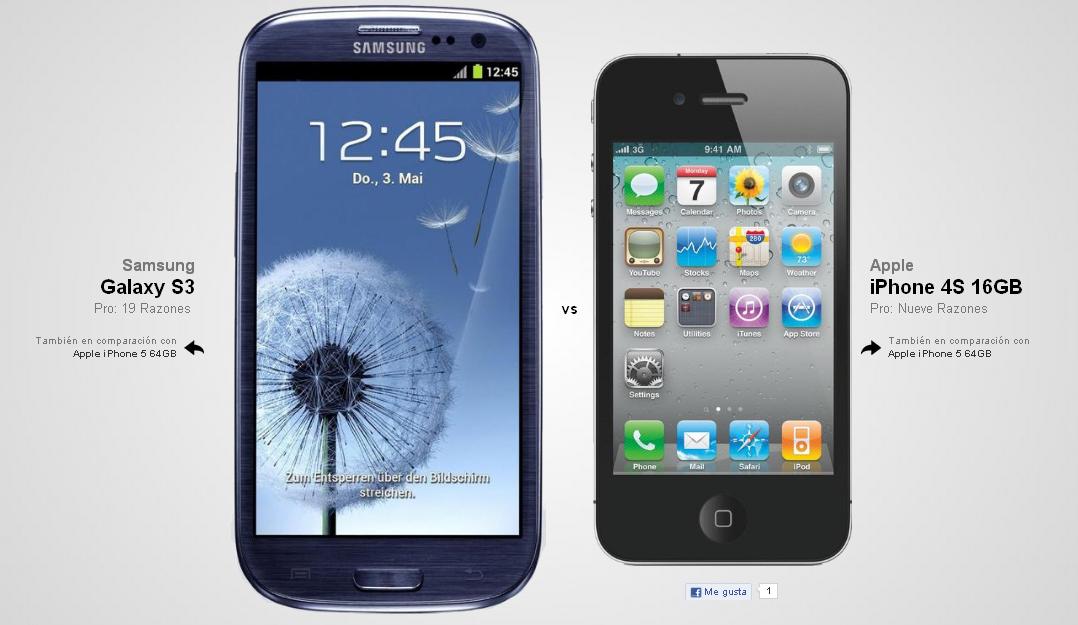 Mi Samsung Galaxy S3: Galaxy S3 vs. iPhone 4S