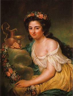 Henriëtte Herz, portret door Anna Dorothea Terbusch, 1778