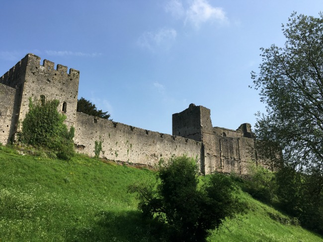 Chepstow Castle - A Toddler Explores a castle on a hill