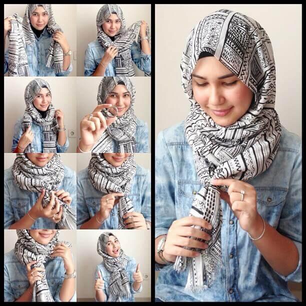 20 Tutorial Hijab Tanpa Ciput Ninja Jarum Pentul Dan Peniti 2017 Tampil Cantik Dengan Hijab