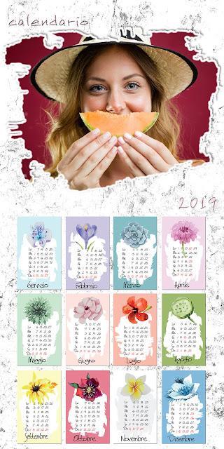 Calendario 2019 adulti formato 30x60