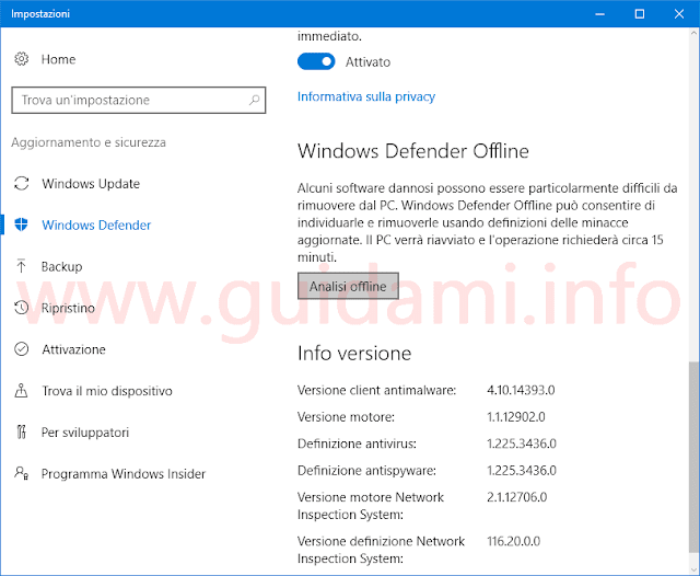 Windows Defender Offline in Windows 10 Anniversary Update