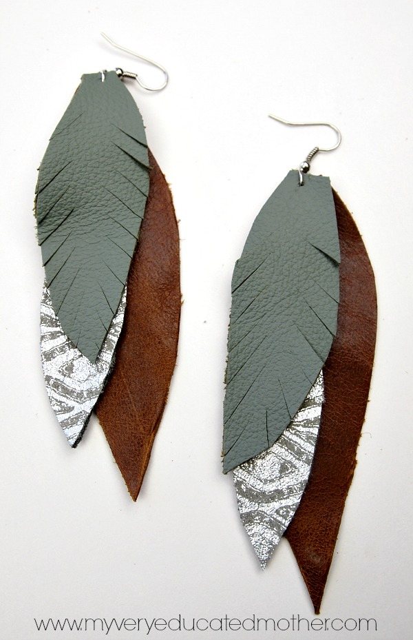 Make Your Own Leather Earrings