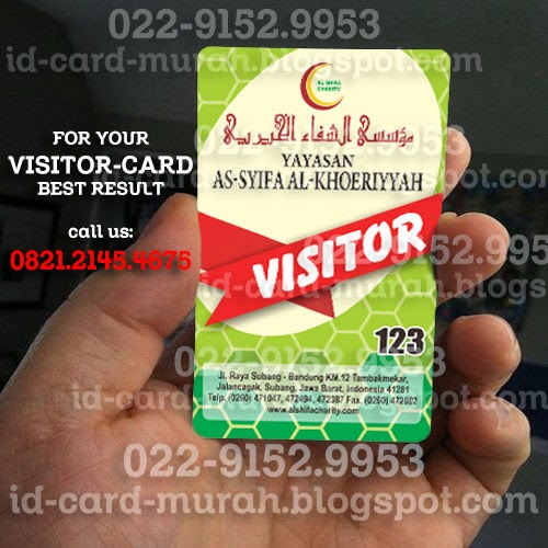 kartu visitor yayasan as syifa al khoeriyyah subang cetak id card murah bandung