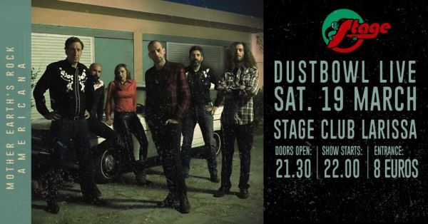 "Dustbowl:  ""The Great Fandango"" live, Σάββατο 19 Μαρτίου @ Stage Λάρισα"