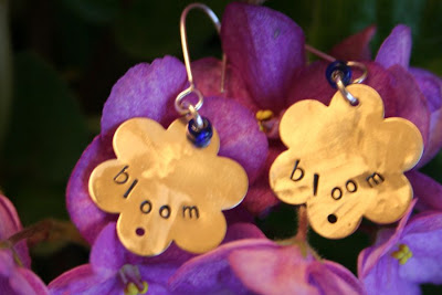 'Bloom' earrings (brass, stamped, missing the stones) :: All Pretty Things