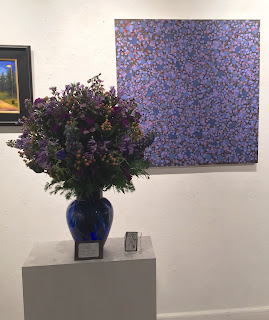 Chaos in Purple/Blue by Norman Soong interpreted by Patrick Kelly of Stein Your Florist Co.