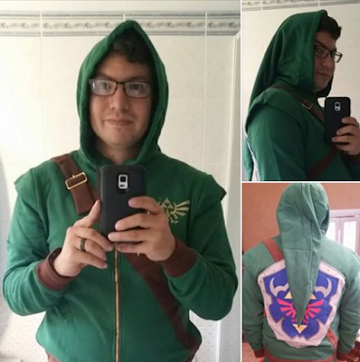 Jesse's new Zelda Hoodie