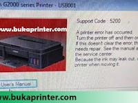 Cara Memperbaiki Printer Canon G1000 dan G2000 Error 5200