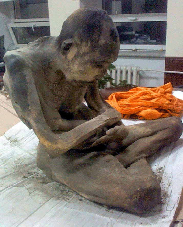 Mummified corpse of 200 year old 'meditating monk' found in Mongolia